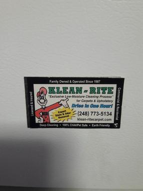Klean Rite Carpet Upholstery Cleaning